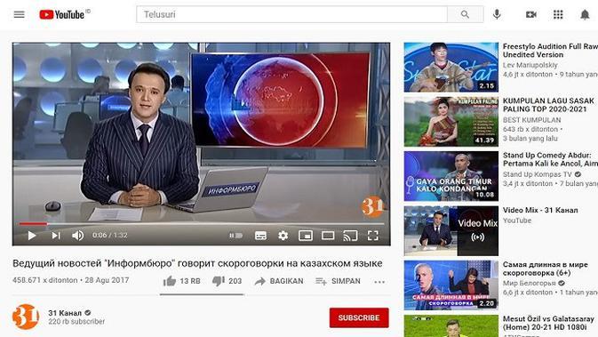 Gambar Tangkapan Layar Video dari Channel YouTube 31 Канал
