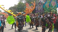 Kemeriahan Helaran Festival Budaya memeriahkan Hari Jadi Bogor (HJB) ke-536 (Liputan6.com/ Achmad Sudarno)