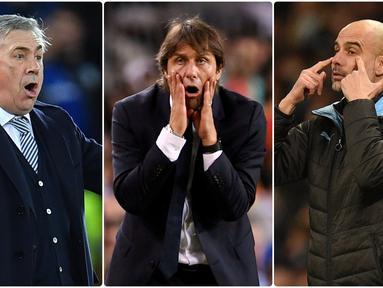 Pemain bintang sepak bola dunia kerap mencoba peruntungannya untuk melatih sebuah tim setelah pensiun. Beberapa mantan bintang sepak bola tersebut sukses menorehkan karier sebagai pelatih. Berikut 5 pelatih top Eropa yang merupakan mantan pemain bintang. (Kolase foto AFP)