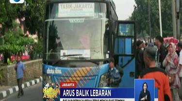Hingga pagi tadi, jumlah pemudik yang tiba di Kampung Rambutan mencapai lebih dari 10 ribu orang.