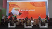 Konferensi pers menjelang penutupan Asian Para Games 2018 di Main Press Center, Senayan, Jumat (12/10/2018). (KLY Sports/Fitri Apriani)