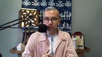 Didiet Maulana saat peluncuran karya terbarunya berkolaborasi dengan LocknLock Indonesia (Liputan6.com/Komarudin)