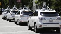 Mobil tanpa pengendara dari Google. (gazettereview.com)