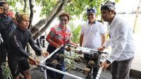 Menteri Kelautan dan Perikanan Susi Pudjiastuti membuka Banyuwangi Underwater Festival 2019 di Pantai Bangsring, Kecamatan Wongsorejo, Banyuwangi. (Dok KKP)