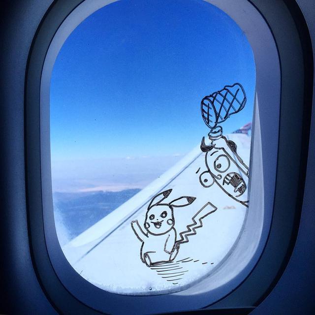jendela pesawat kocak