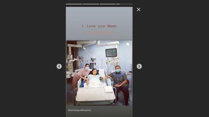 Annisa Pohan menyampaikan rasa sayang dan rindunya kepada sang mertua, Ani Yudhoyono melalui akun sosial media miliknya. (Instagram @annisayudhoyono)