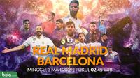 La Liga: Real Madrid Vs Barcelona Head to Head (Bola.com/Adreanus Titus)