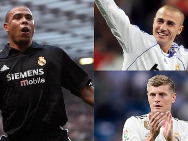 Real Madrid begitu dikenal sebagai klub yang diisi oleh pesepak bola papan atas. Kebiasaan membajak pemain yang tampil impresif saat piala dunia menjadi sesuatu yang sulit dihilangkan. (Kolase Foto AFP)