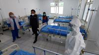 Rumah Sakit Lapangan bagi pasien Covid-19 di Bogor. (Foto: Achmad Sudarno/Liputan6.com).