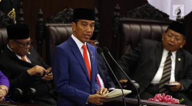Jokowi Serahkan Nota Keuangan dan RUU APBN 2020 kepada DPR