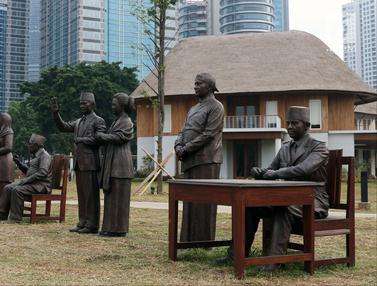 Patung Tujuh Presiden RI Hiasi Hutan Kota GBK