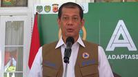 Ketua Satuan Tugas (Satgas) Penanganan Covid-19 Doni Monardo memberikan keterangan kepada pers usai menghadiri Rapat Koordinasi Penanganan Covid-19 di Gedung Pakuan, Bandung, Jawa Barat, Kamis (6/8/2020). (Liputan6.com/Huyogo Simbolon)