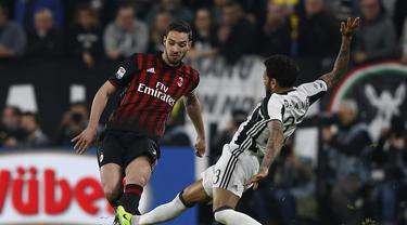 Bek AC Milan, De Sciglio saat tampil melawan Juventus