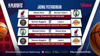 Jadwal final wilayah NBA di Vidio pekan ini. (Sumber: Vidio)
