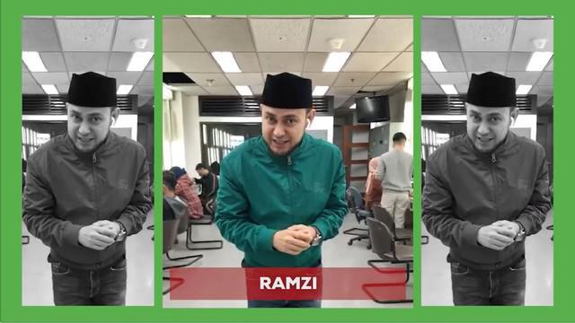 """Berita video Ramzi dan para bintang Indosiar, seperti Selfi Yamma, berpesan bahwa """"tidak mudik, tetap asyik""""."""
