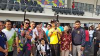 INAPGOC baru bisa menyempurnakan persiapan venue Asian Para Games di Gelora Bung Karno mulai 30 September atau enam hari jelang upacara pembukaan. (Bola.com/Zulfirdaus Harahap)