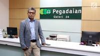 Direktur Utama Pegadaian Sunarso berpose usai diwawancara oleh www.sulawesita.com di Kantor Pusat Pegadaian, Jakarta, Rabu (11/4).(Www.sulawesita.com)