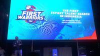 Deputy Chief Executive Officer (CEO) PT Link Net Tbk., Victor Indajang saat memberikan kata sambutan pada peluncuran program First Warriors.  (FOTO / Ist)