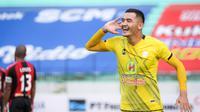 Barito Putera menang tipis 1-0 atas Persipura Jayapura dalam pekan kesembilan di Stadion Manahan, Solo, Senin (25/10/2021) sore. (Bola.com/Bagaskara Lazuardi)