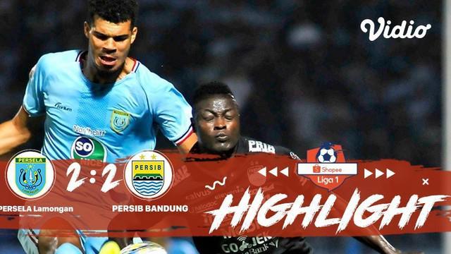 Laga lanjutan Shopee Liga 1, PERSELA Lamongan  vs PERSIB Bandung berakhir imbang dengan skor 2-2 #shopeeliga1