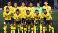 Timnas Malaysia U-22 jelang laga melawan Kamboja di Piala AFF U-22 2019 di Olympic Stadium, Phnom Penh, Senin (18/2/2019). (Bola.com/Dok. FAM)