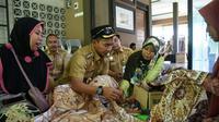 Batik Rifaiyah asal Batang memiliki motif tiga negeri syarat spiritual. (Liputan6.com/Fajar Eko Nugroho)