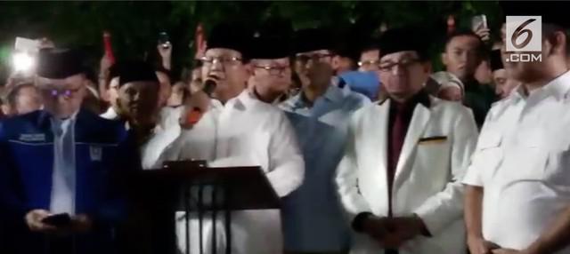 Partai Gerindra, PKS dan PAN resmi mendukung pasangan Prabowo Subianto-Sandiaga Uno untuk bertarung di pilpres 2019.