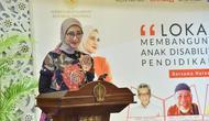 Staf Khusus Presiden Angkie Yudistia dalam Lokakarya Hari Disabilitas Internasional 2020 di Yogyakarta. Foto: Instagram angkie.yudistia.