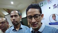 Cawapres Nomor Urut 02 Sandiaga Uno Saat Mengunjungi asjid Raya Palapa Baitus Salam, Pasar Minggu, Jakarta Selatan, Sabtu (25/5/2019). (Foto: Liputan6.com/Ady Anugrahadi)