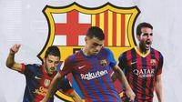 Barcelona - David Villa, Pedri, Cesc Fabregas (Bola.com/Adreanus Titus)