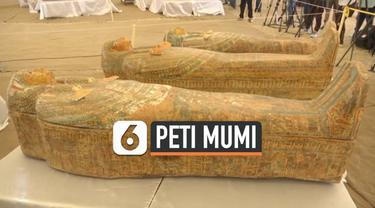 Arkeolog membuka 30 peti mati berisi mumi yang diperkirakan berusia 3.000 tahun di Luxor, Mesir. Terdapat 23 mumi laki-laki, lima perempuan, dan dua anak-anak.