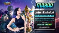 Main bareng Mobile Legends bersama Larissa Rochefort Senin, (7/12/2020) pukul 19.00 WIB dapat disaksikan melalui platform Vidio, laman Bola.com, dan Bola.net. (Dok. Vidio)