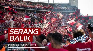 Berita video Scroll up membahas cibiran dari salah satu pendukung Manchester United kepada Bayer Leverkusen di media sosial Twitter.