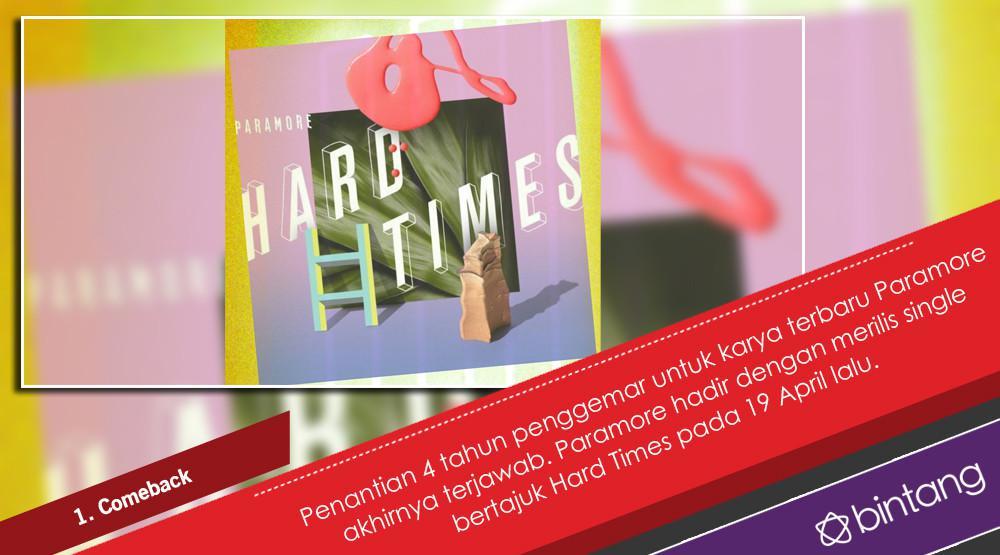 Paramore, Penantian 4 Tahun dan Comeback Penuh Warna. (Foto: Twitter/paramore, Desain: Nurman Abdul Hakim/Bintang.com)