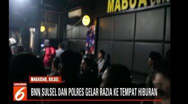 Ketujuh perempuan yang diamankan langsung digelandang ke Mapolrestabes Makassar untuk diteliti.