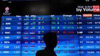 Sementara itu, 60 saham menguat dan 68 saham diam di tempat, Jakarta, Selasa (9/9/14). (Liputan6.com/Miftahul Hayat)