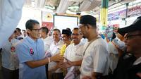 Sandiga Uno blusukan di Pusat Kuliner Alur Wonosobo Jawa Tengah (Foto: Tim Prabowo-Sandiaga)