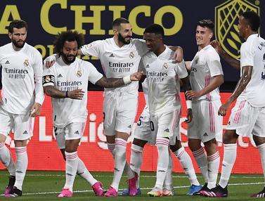 FOTO: Bantai Cadiz, Real Madrid Puncaki Klasemen La Liga Spanyol