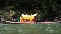 Warga di Kenegerian Malako Kociok, Riau, akan melaksanakan tradisi Sema Antau (rantau) dan Naghoyi (negeri) sebagai sebuah nazar ataupun janji karena bagian alam di hutan Rimbang Baling. (Liputan6.com/M Syukur)