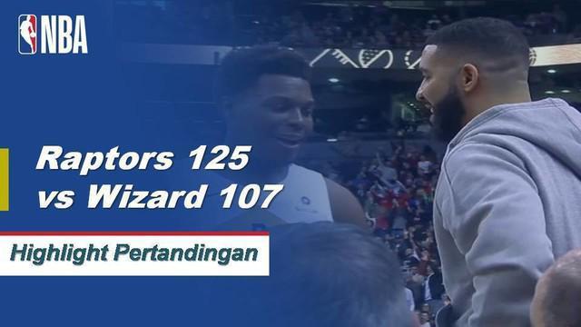 Kawhi Leonard mengumpulkan double-double dengan 27 poin dan 10 rebound ketika Raptors mengalahkan Wizards, 125-107.