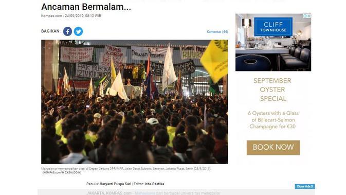 [Cek Fakta] Jokowi Mengaku Tidak Melihat Ada Demo Mahasiswa, Faktanya?