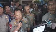 Kapolri Jenderal Pol Tito Karnavian usai rapat soal pengamanan Asian Games 2018. (Liputan6.com/Ady Anugrahadi)