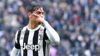 3. Paulo Dybala (Juventus) - 17 Gol (1 Penalti). (AP/Alessandro di Marco)