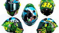 Desain helm Valentino Rossi untuk MotoGP Italia 2021. (MotoGP)