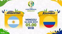 Copa America 2019 - Argentina Vs Kolombia (Bola.com/Adreanus Titus)