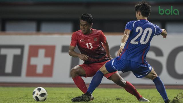 Sepak Bola : Indonesia Vs Chinese Taipei