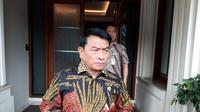 Kepala Staf Presiden Moeldoko mendatangi kantor Menko Polhukam Wiranto