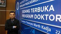 Grandprix meraih gelar doktor termuda di Indonesia dalam usia 24 tahun. (Liputan6.com/Huyogo Simbolon)