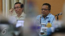 Ketua KEIN Soetrisno Bachir memberikan penjelasan saat FGD KEIN di Jakarta, Rabu (5/10). Pariwisata merupakan sektor yang memiliki potensi paling besar untuk mendorong perekonomian Indonesia. (Liputan6.com/Angga Yuniar)