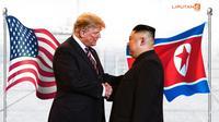 Banner Infografis Donald Trump dan Kim Jong-un Gagal Sepakat. (Liputan6.com/Triyasni)